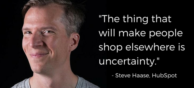 product pages picture of Steve Haase with the quote above.