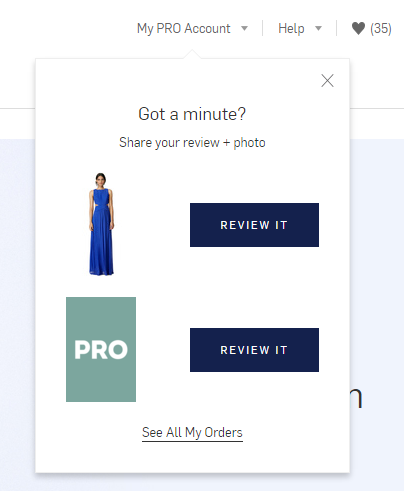 product pages review reminder example