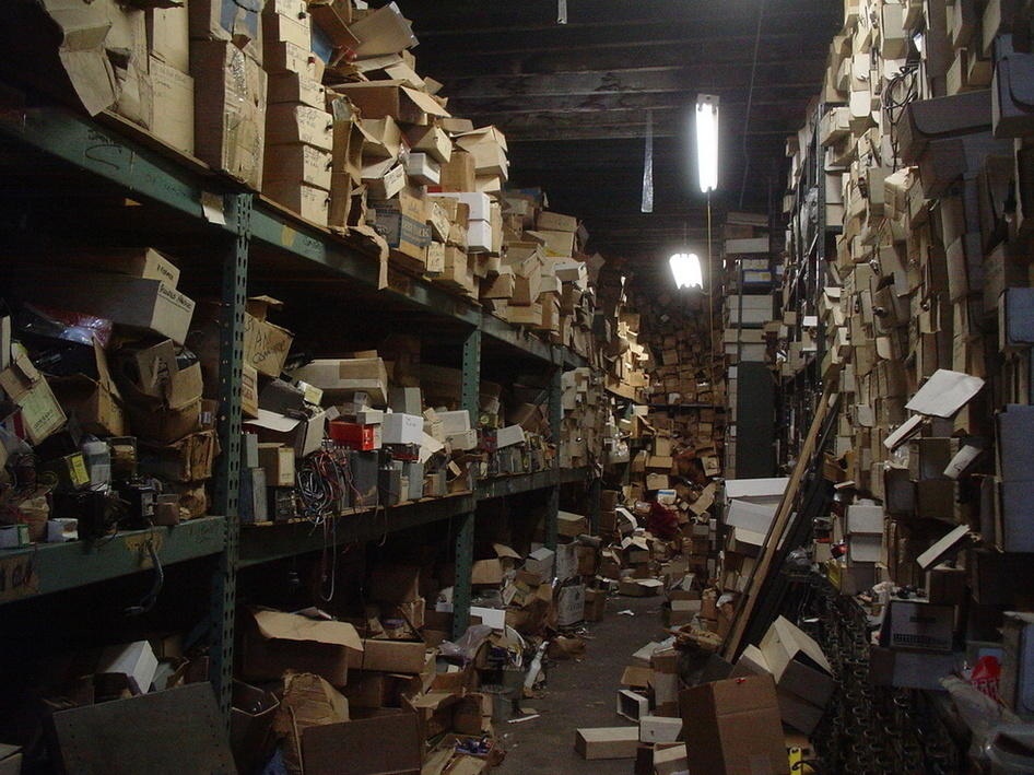 Productivity for content marketers disorganized warehouse