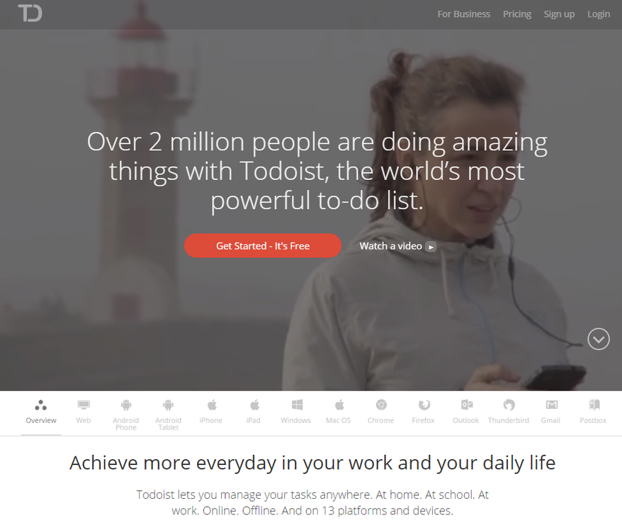 Productivity for content marketers Todoist