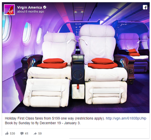 Psychology of Facebook ads aspirational example