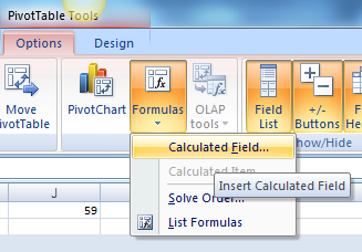 Pivot Table Tools