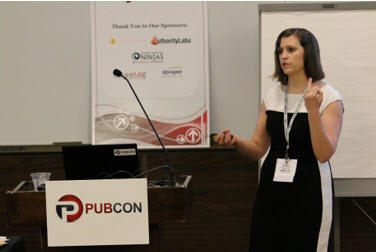 michelle leblanc at pubcon austin