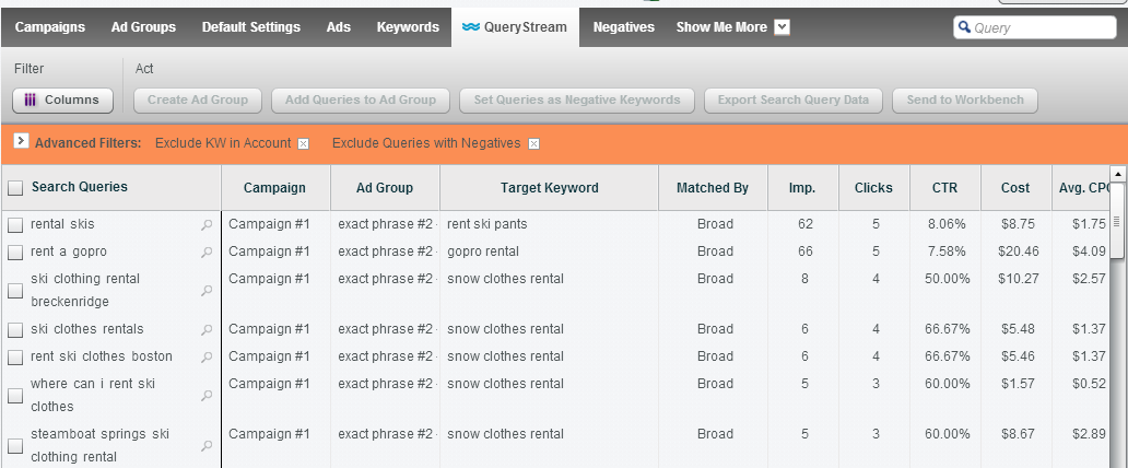 Negative Keyword Discovery