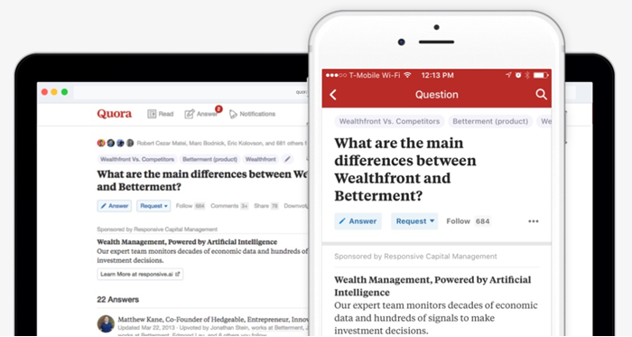 quora ads mobile vs desktop