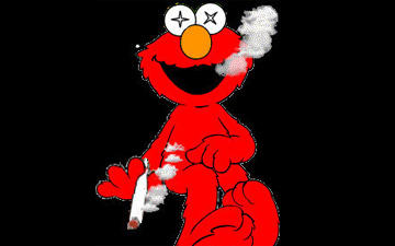 Weed Smoking Elmo