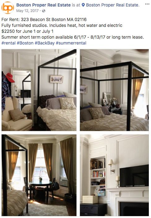 Real estate Facebook ads transparent ad copy example