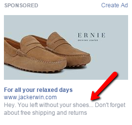 shopping cart abandoner ad