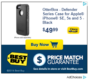 best buy ad featuring phone case
