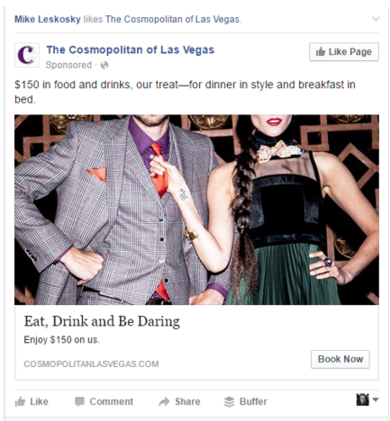 cosmopolitan ad with discount