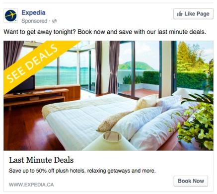 expedia last minute ad