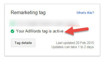 adwords tag active