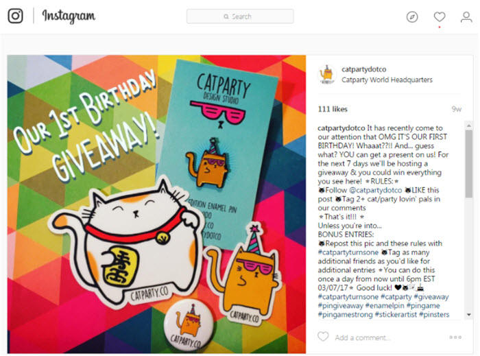 how to do an instagram giveaway contest