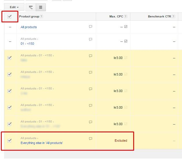 Scary AdWords mistakes everything else group