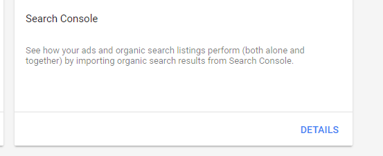 search console and adwords