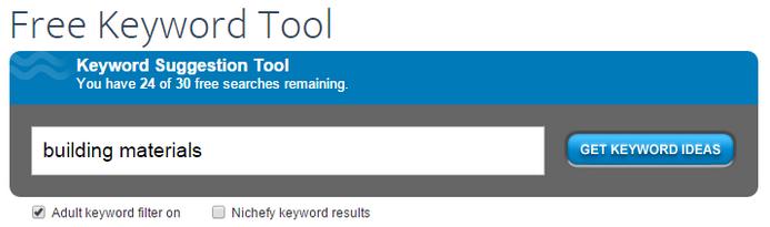 Search engine marketing free keyword tool