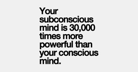 Self editing checklist subconscious mind