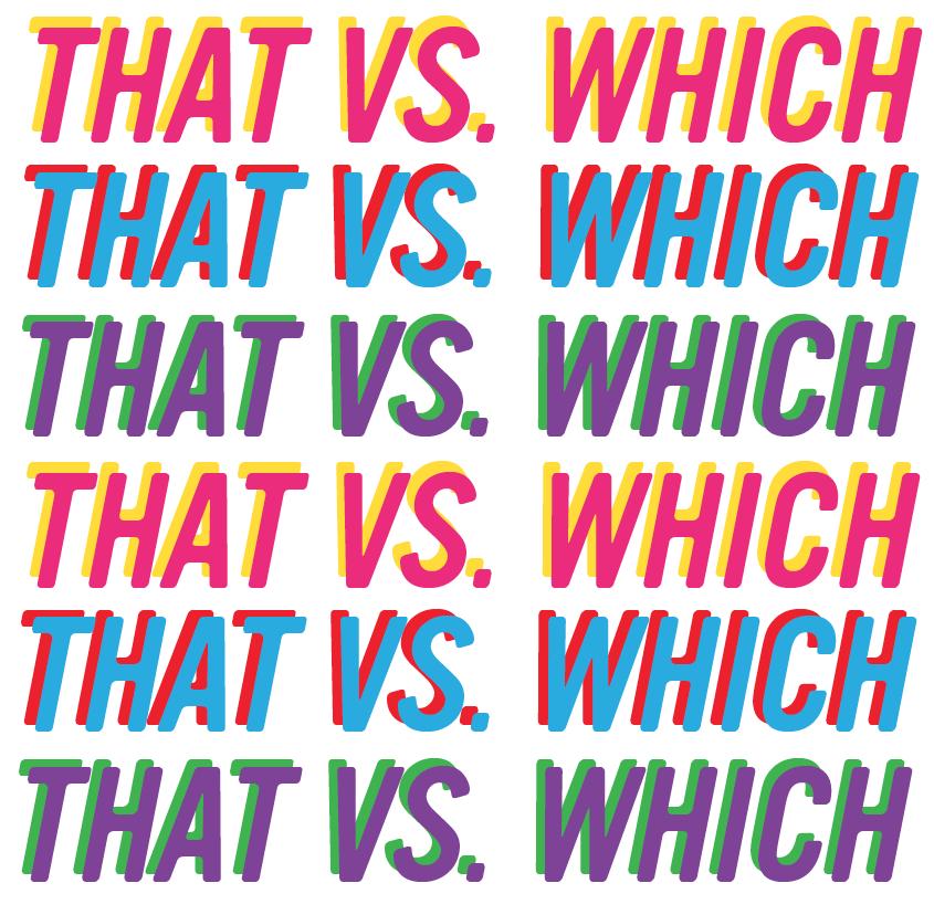 Self editing checklist that vs. which