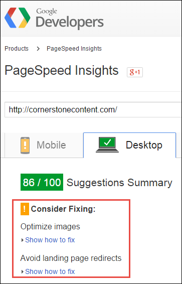 page speed effect on seo