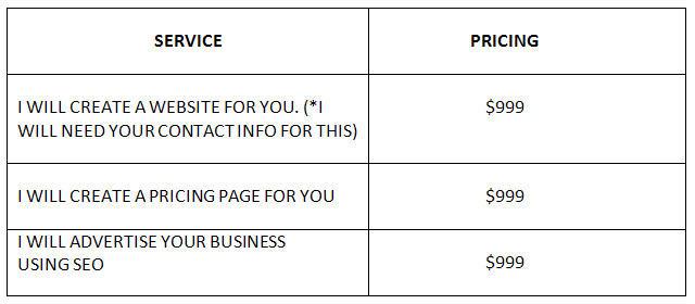 SEO Pricing