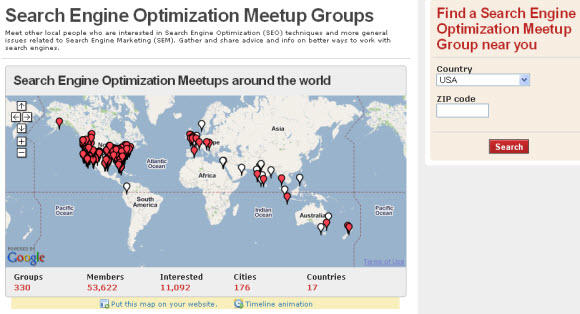 SEO Meetups groupls in the United States and around the World