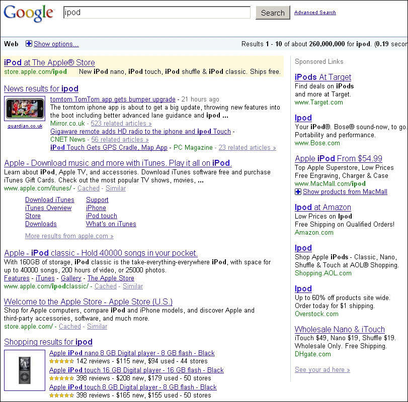 Competitive search query for PPC