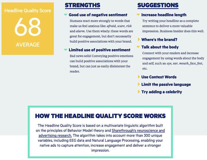 headline analysis tools
