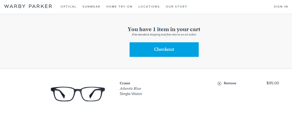 Shopping cart abandonment checkout page CTA