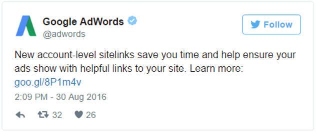 account level sitelinks