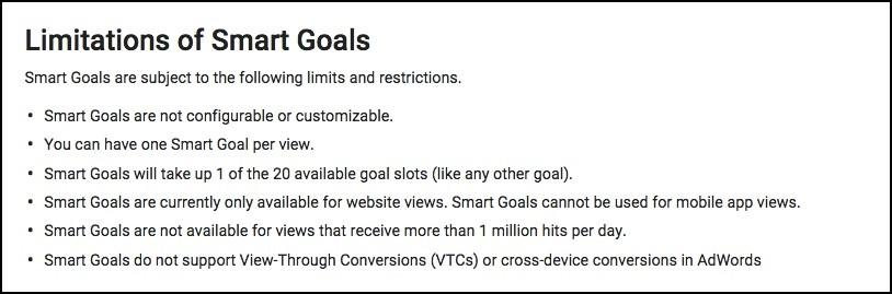 smart goals limitations