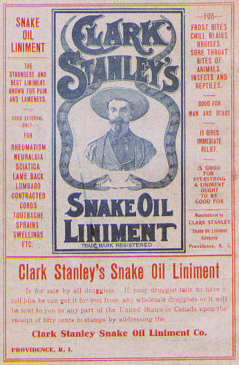 snake oil salesman