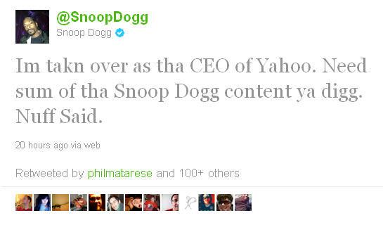 Snoop as Yahoo's Future CEO?