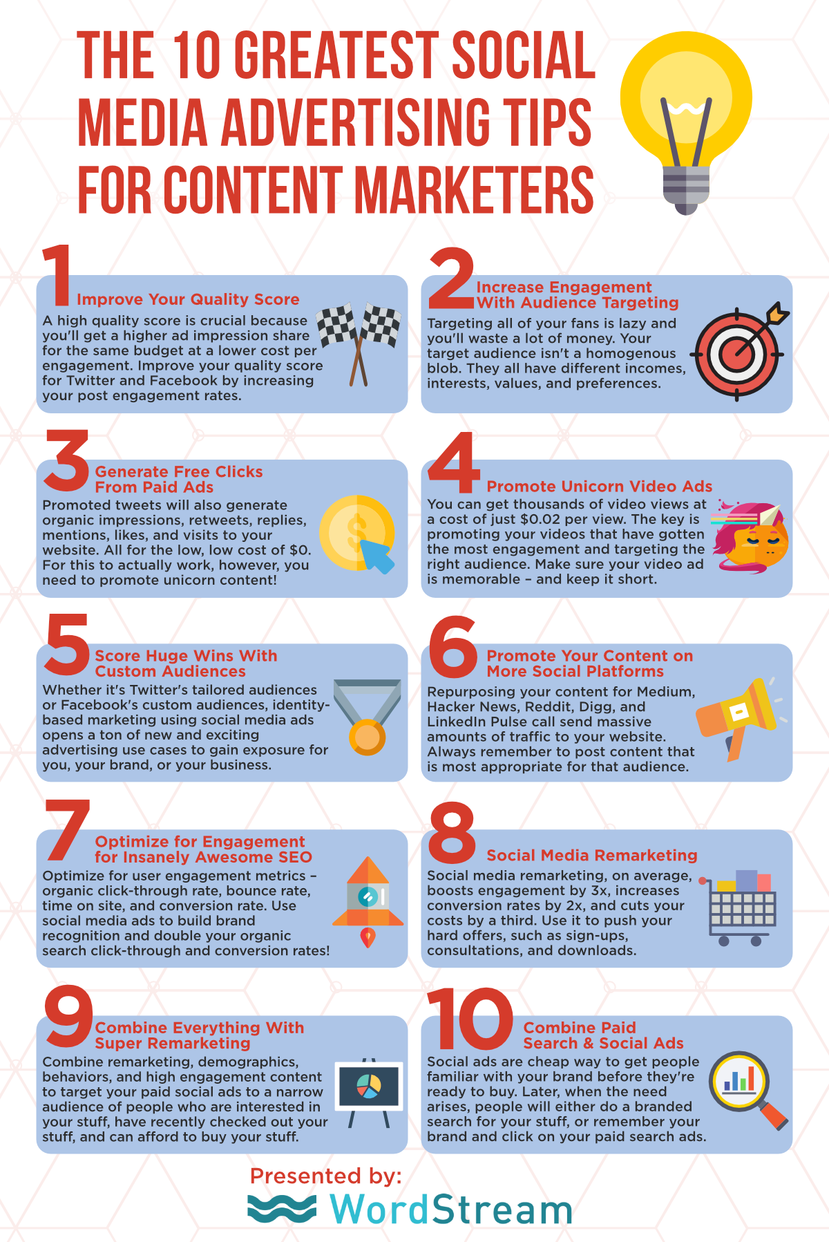 Top 10 social media advertising tips infographic