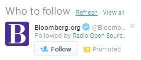 Social media advertising Twitter promoted account