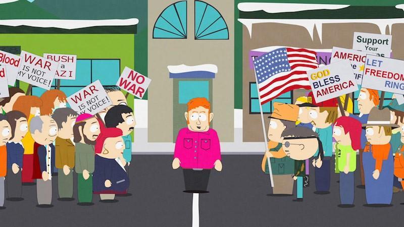 Publicité sur les médias sociaux South Park meme