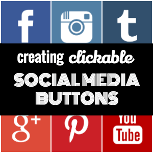 social media buttons cover