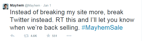 social media marketing plan mayhem tweet
