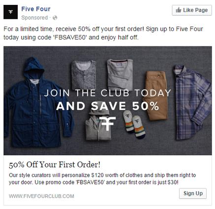 Social media marketing tips Facebook ad