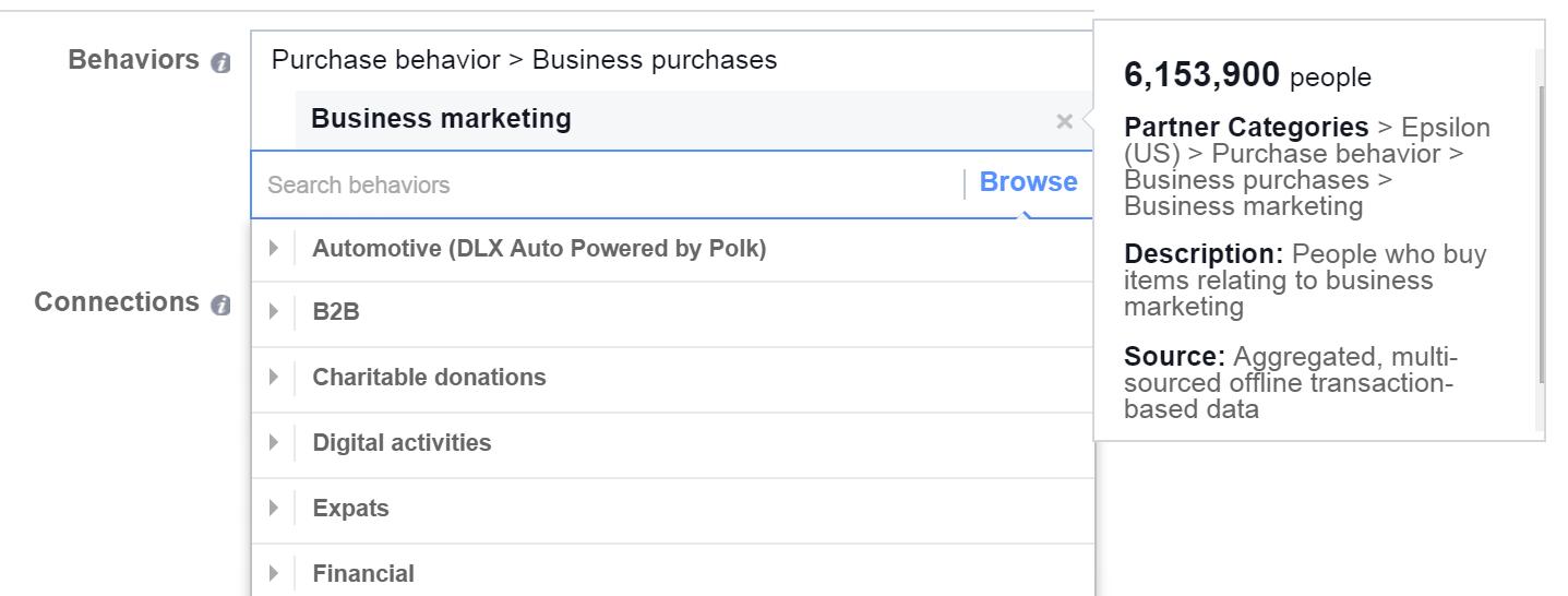 Social media marketing tips Facebook purchasing behavior