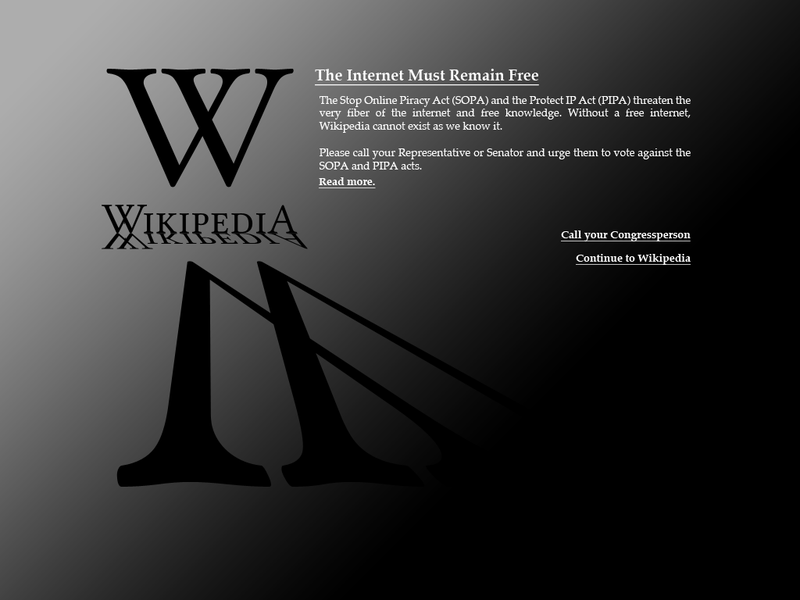 blackout Wikipedia, Wikipedia blackout, can sopa and pipa effect youtube, what is sopa and why is it bad