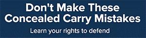 Split test Concealed Carry Association display ad