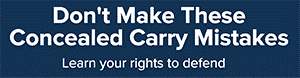 Split test Concealed Carry Association display ad