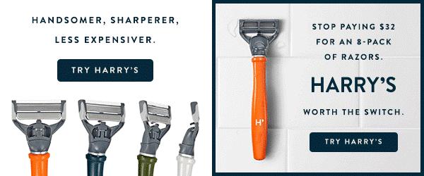 Split test Harry's Shaving ads