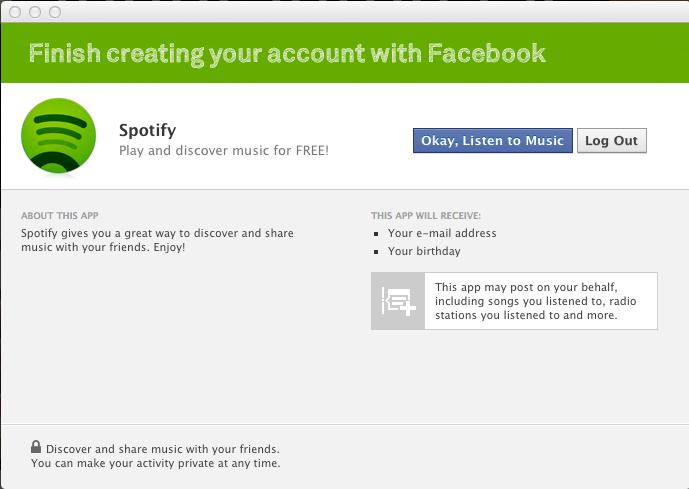 Facebook Spotify