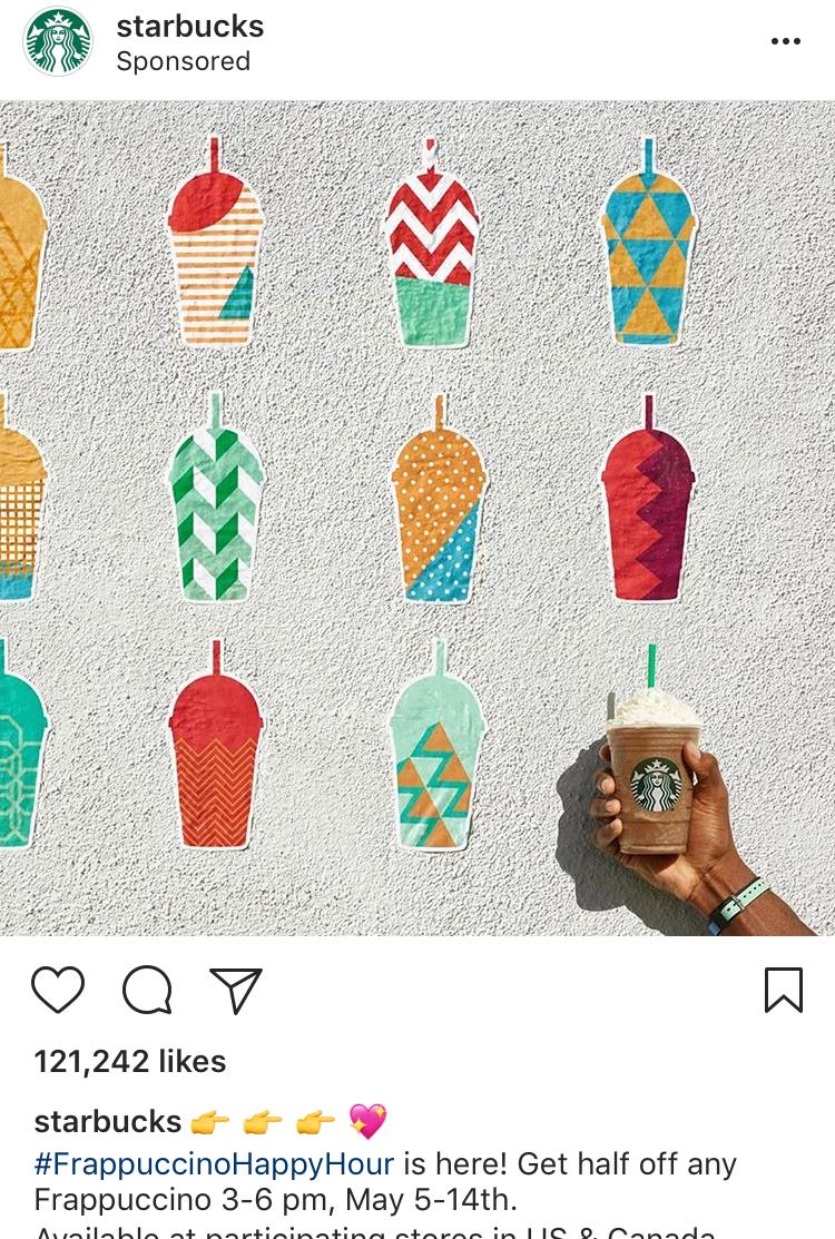 Starbucks Best Instagram Ad