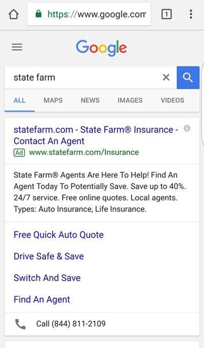 state farm mobile brand searches