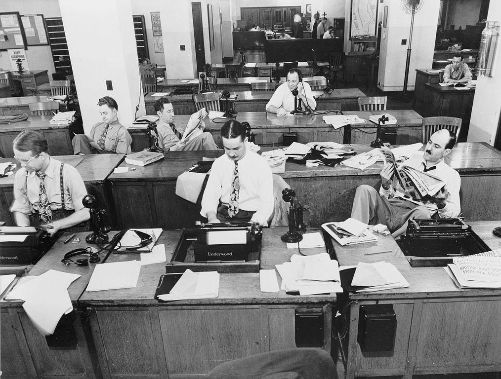 Storytelling in content marketing New York Times newsroom 1942