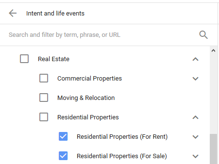 targeting life events in google adwords