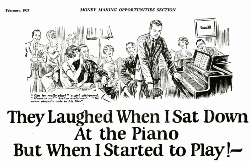 they laughed piano vintage ad
