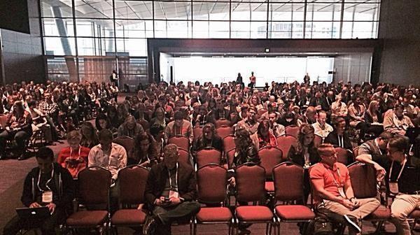 Thought leadership marketing Larry Kim INBOUND 2015 presentation crowd
